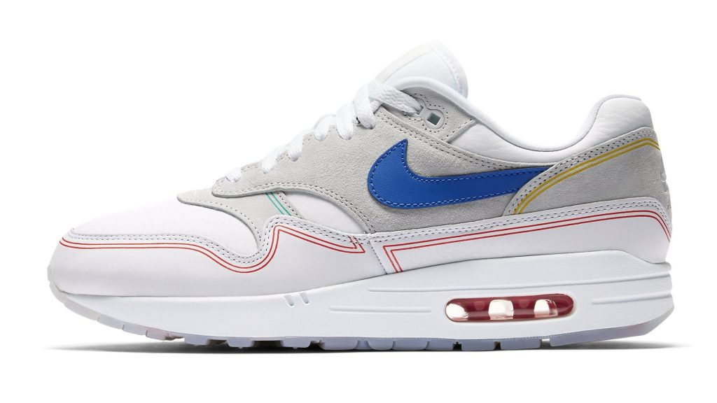 """Nike Air Max 1 """"Centre Pompidou"""" Lateral Side"""