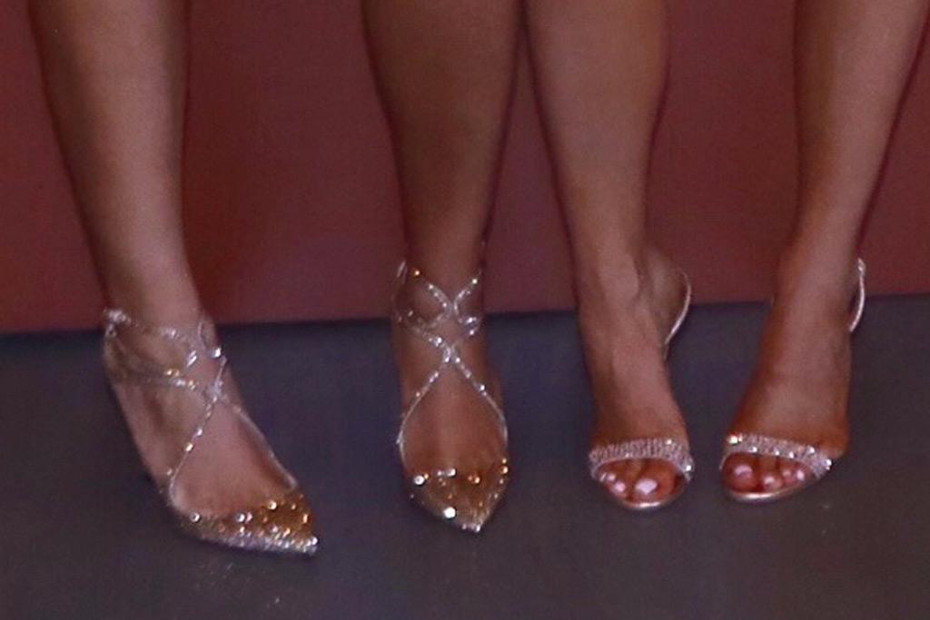 Jordyn Woods and Kylie Jenner, footwear