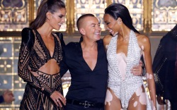 Izabel Goulart, Julien Macdonald and Winnie