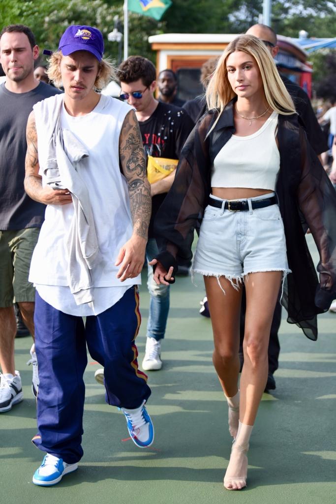 Justin Bieber and Hailey Baldwin, john elliot spring 2019, new york fashion week
