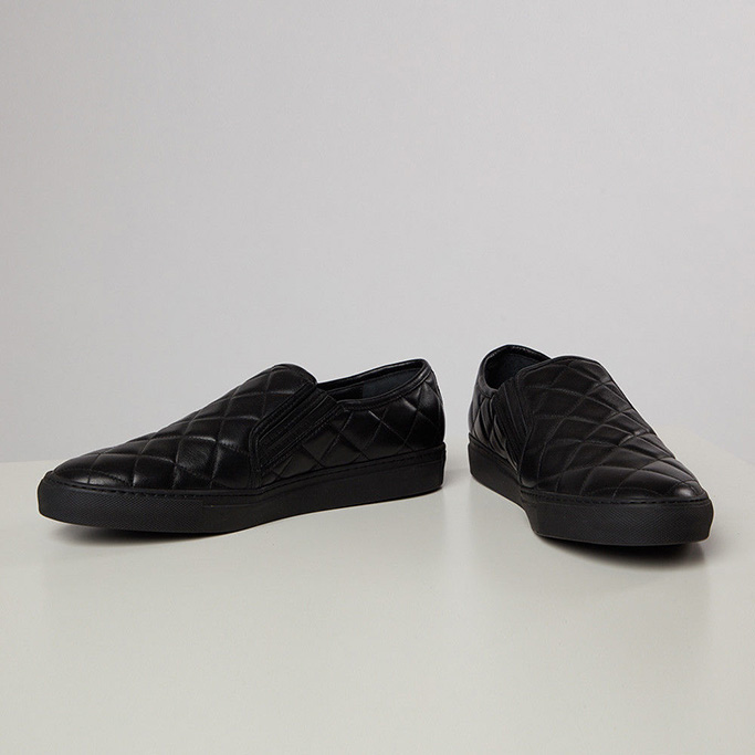 Balmain Quilted Leather Loafers