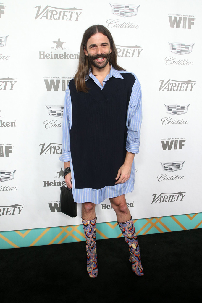 Jonathan Van Ness, variety, pre-emmys party, red carpet, celebrity style