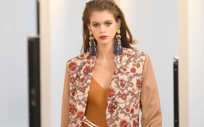 kaia gerber, chloe spring 2019, paris fashion week