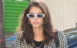 Model Kaia Gerber is seen leaving