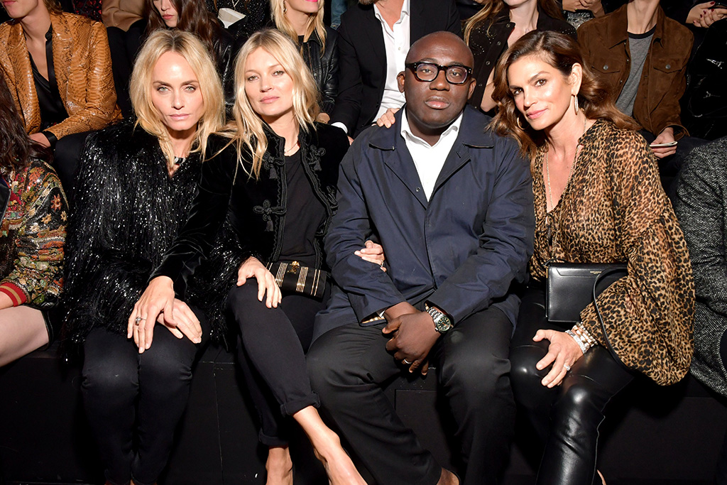 Celebrities Front Row At Paris Fashion Week Kate Moss More Stars Footwear News
