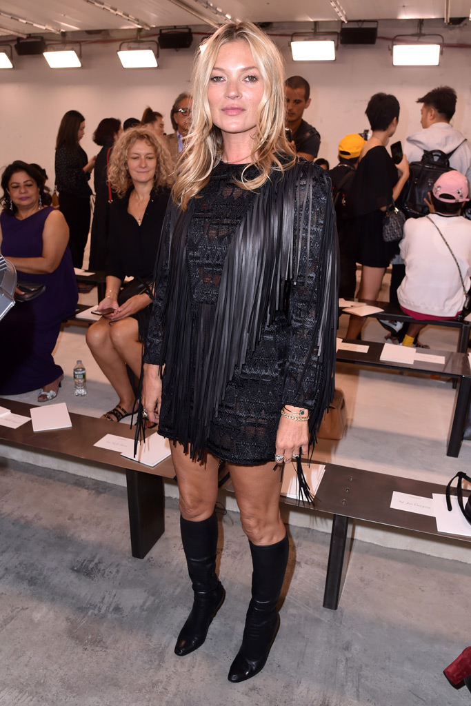 Kate Moss, Longchamp, runway, fashion, spring 2019, front row