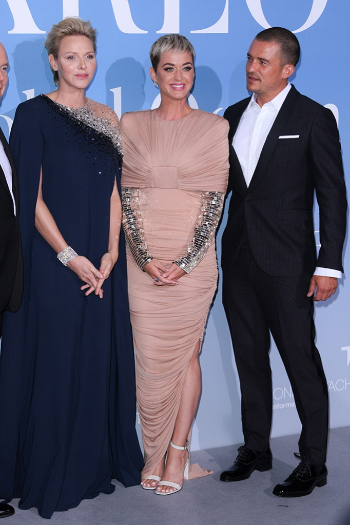 Princess Charlene of Monaco, Katy Perry and Orlando BloomMonte Carlo Gala for the Global Ocean, Opera de Monte-Carlo, Monaco, France - 26 Sep 2018 Hosted by Prince Albert II of Monco. Proceeds supporting the foundation's initiatives in sustaining the world's oceans