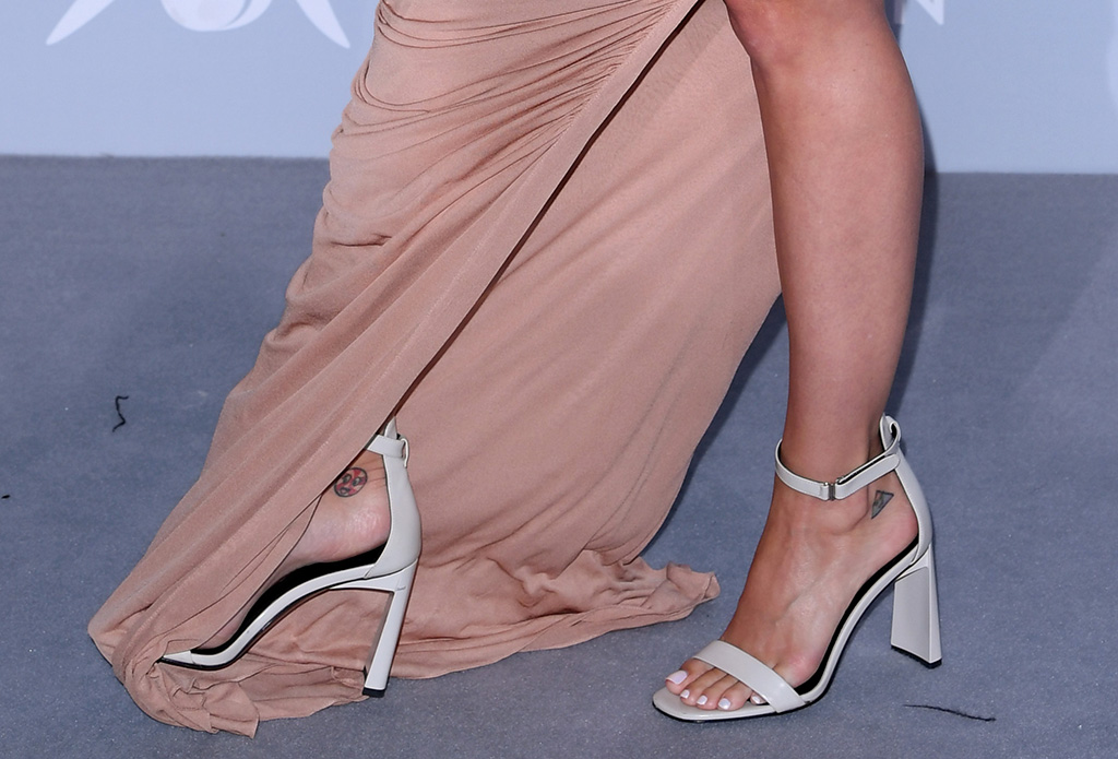 Katy Perry, via spiga faxon sandals, Monte Carlo Gala for the Global Ocean, Opera de Monte-Carlo, Monaco, France - 26 Sep 2018 Hosted by Prince Albert II of Monco. Proceeds supporting the foundation's initiatives in sustaining the world's oceans