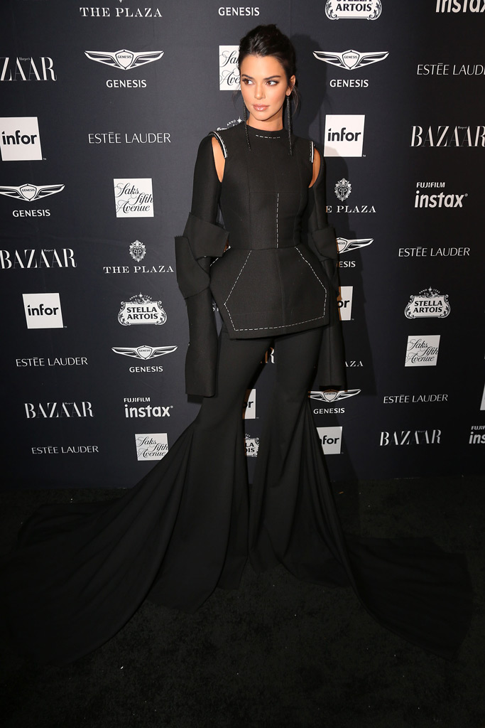 Kendall Jenner, NYFW, Harpers Bazaar Icons Party, red carpet