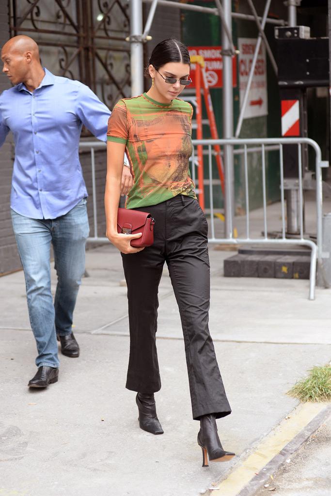 Kendall Jenner, recording studio, NY, NYFW