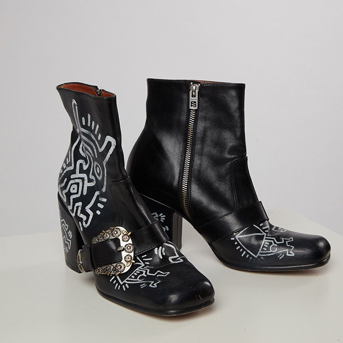 Keith Hering x Coach Ankle Boots