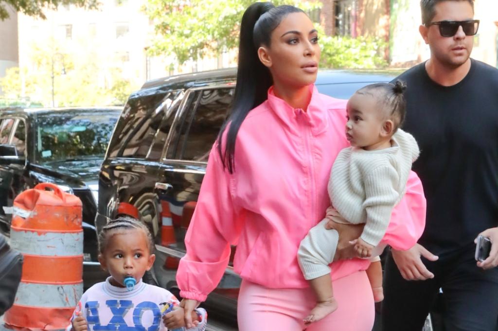 Kim Kardashian \u0026 North West Wear Neon