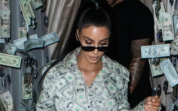 kim kardashian, money costume, jeremy scott