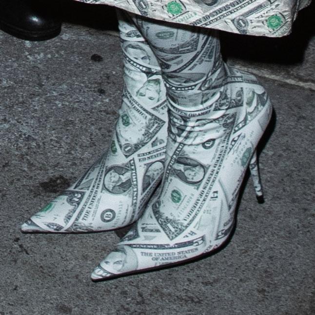 kim kardashian, sock boots, money boots