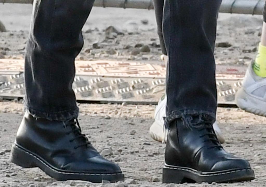 the row fara leather ankle boots, kourtney kardashian