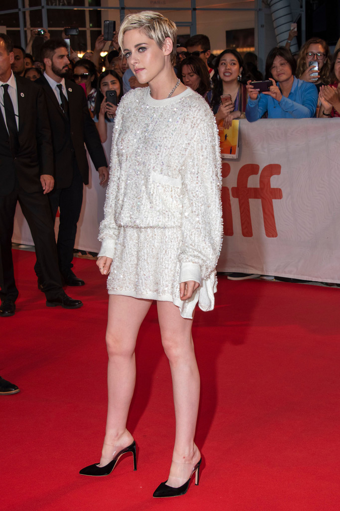 Kristen Stewart, Toronto International Film Festival, red carpet, legs, minidress, chanel, sophia webster heels