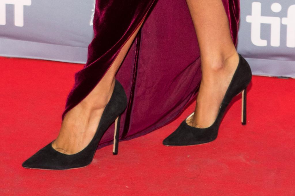 lady gaga, toronto international film festival, red carpet style, shoes, pumps