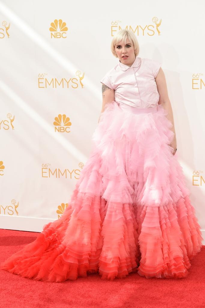 lena dunham, Lena Dunham wore Giambattista Valli, 2014 emmys