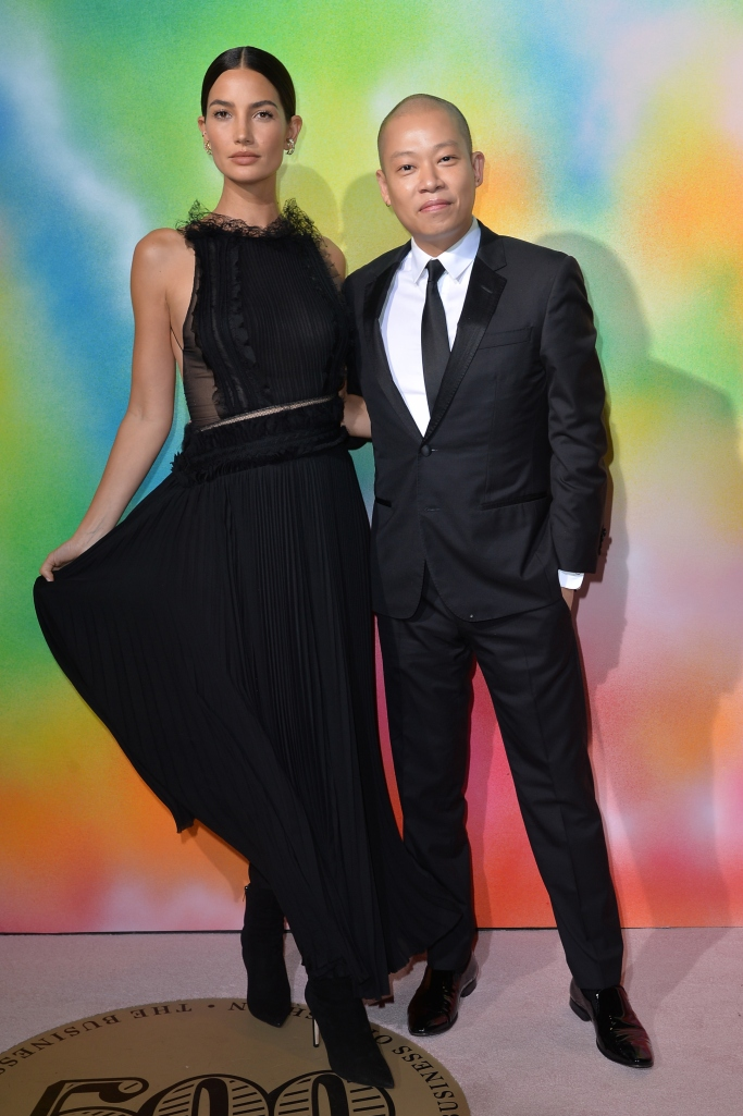 Lily Aldridge, Jason Wu, bof 500 gala, new york fashion week, Jimmy Choo Helaine Black Suede Booties