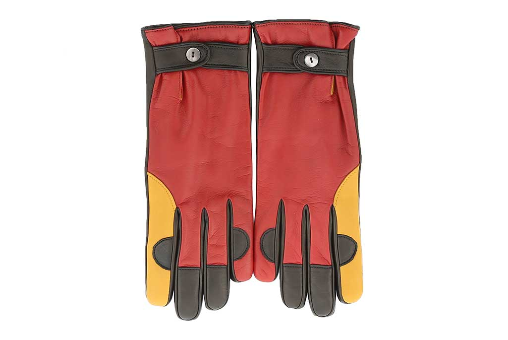 A pair of gloves from Manolo Blahnik's new men's accessories collection.