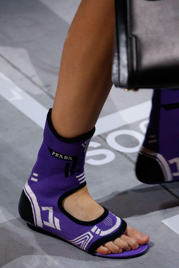 top 10 shoes milan fashion week mfw spring 2019 prada sock sandals