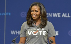 Michelle Obama, rally, when we all