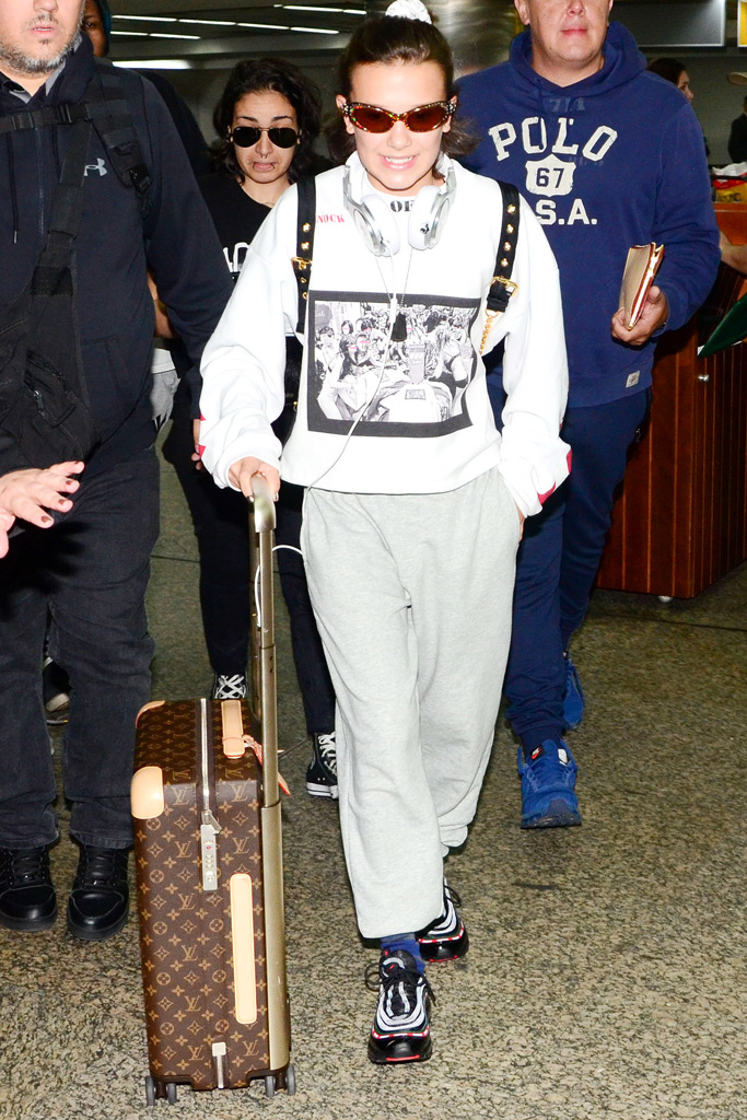 Millie Bobby Brown, airport style, fashion