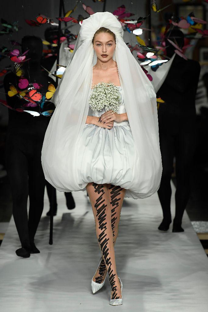 gigi hadid moschino bride