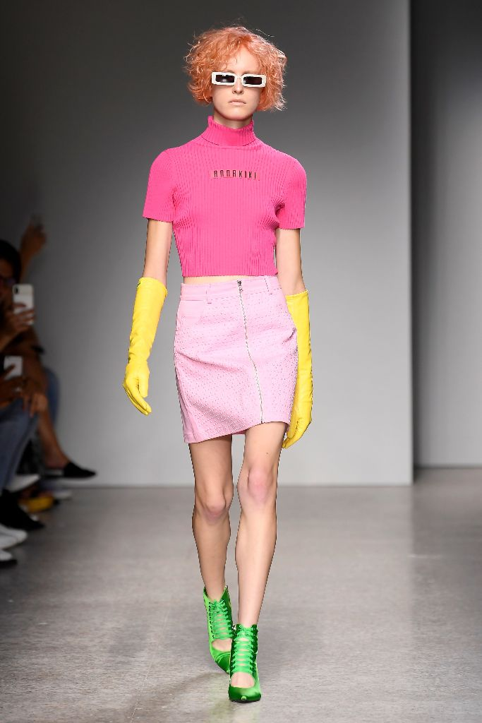 annakiki spring 2019 milan fashion week neon trend