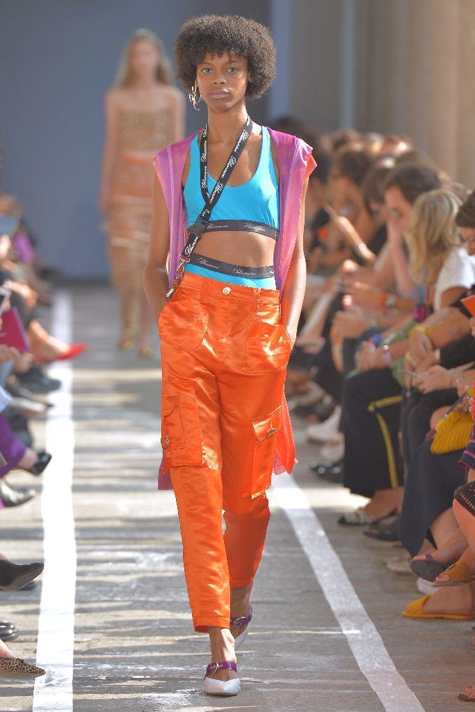 blumarine spring 2019 neon trend milan fashion week