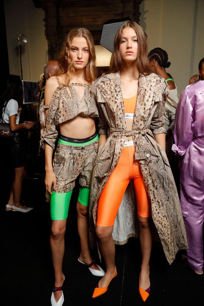 daizy shely spring 2019 neon trend milan fashion week