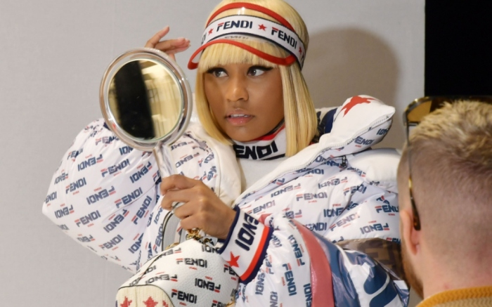 nicki minaj, fendi front row, milan fashion week