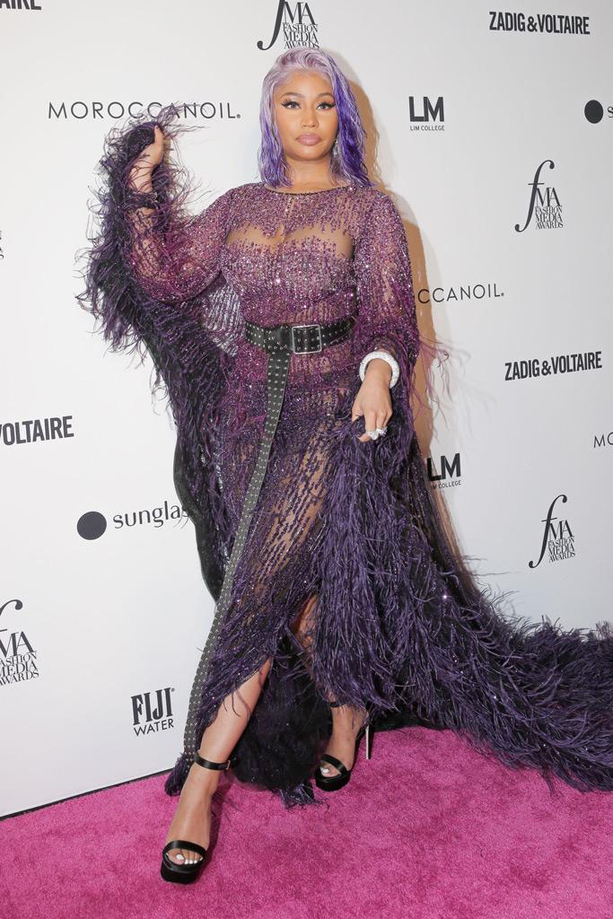 Nicki Minaj, Daily Front Row Awards, red carpet, fashion