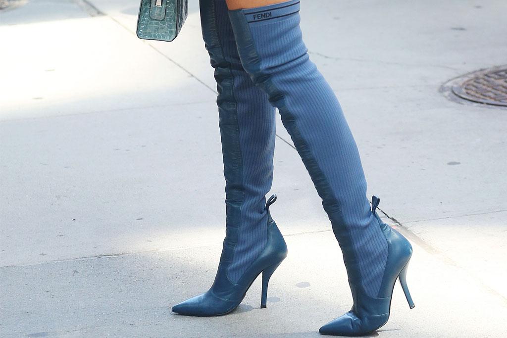 Olivia Culpo shoes, Fendi, Fendi boots