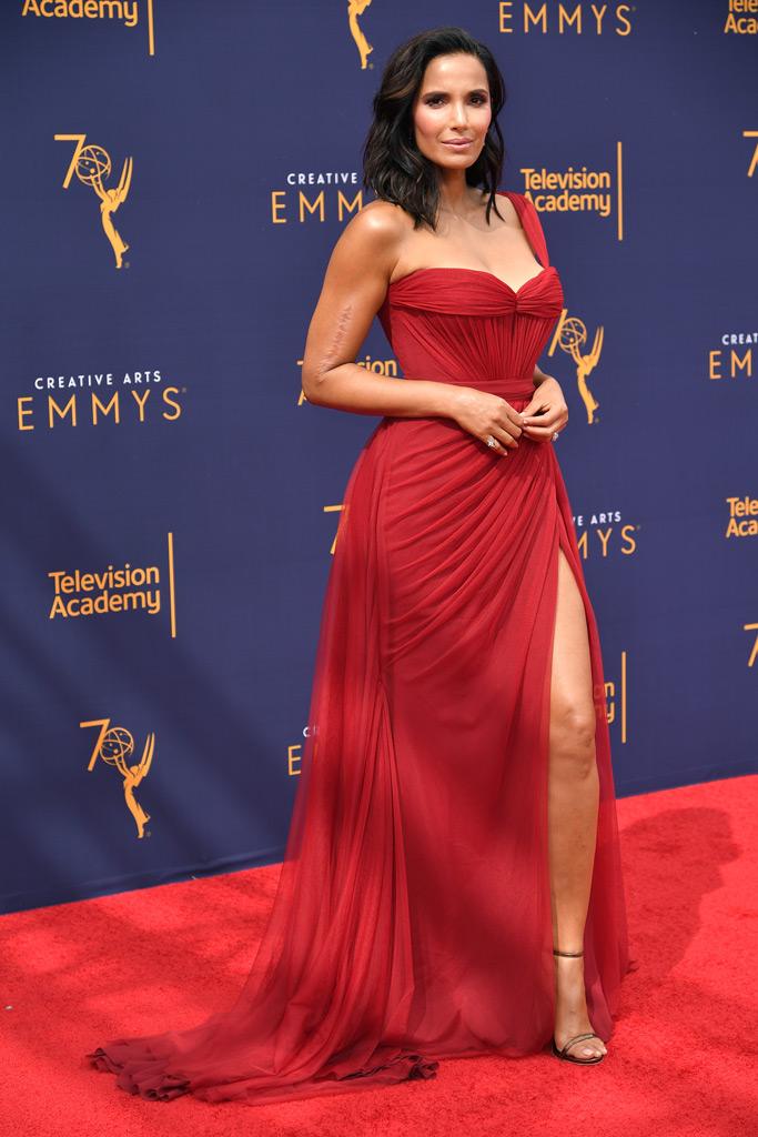 Padma Lakshmi, red carpet, style