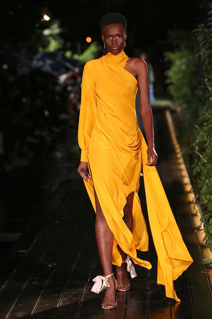 Model on the catwalkPyer Moss show, Runway, Spring Summer 2019, New York Fashion Week, USA - 08 Sep 2018