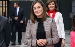 Spanish Queen Letizia during the commemorative