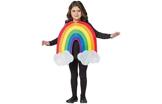 kids rainbow costume