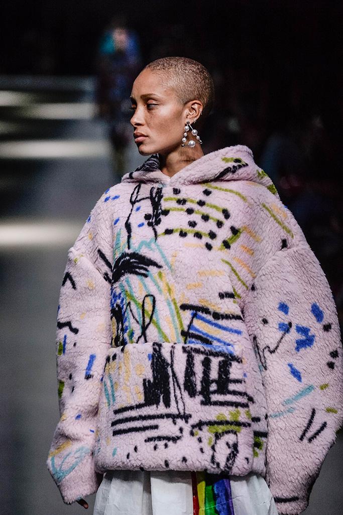 Adwoa Aboah on the catwalkBurberry show, Runway, London Fashion Week, UK - 18 Feb 2018