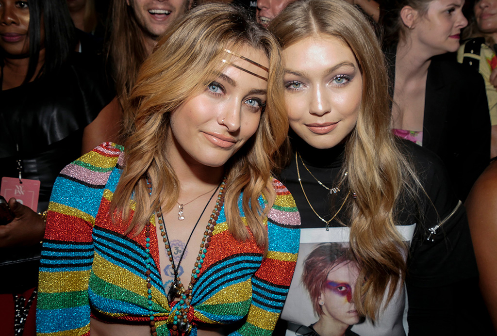 Paris Jackson and Gigi Hadid in the front rowJeremy Scott show, Front Row, Spring Summer 2019, New York Fashion Week, USA - 06 Sep 2018