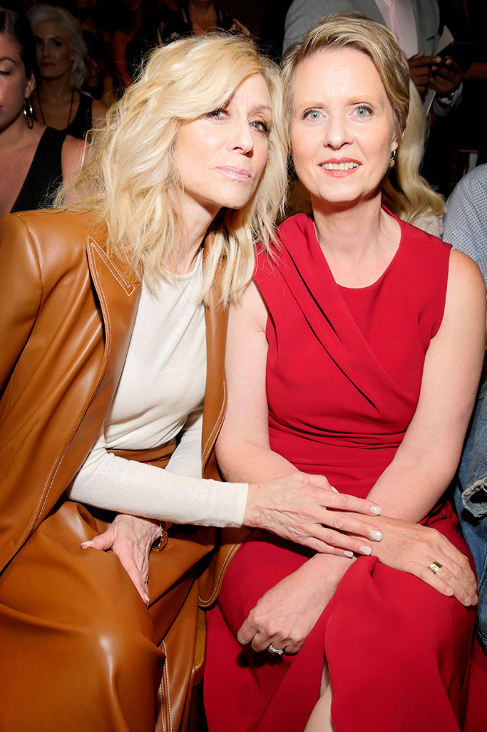 Judith Light and Cynthia Nixon in the front rowChristian Siriano show, Front Row, Spring Summer 2019, New York Fashion Week, USA - 08 Sep 2018