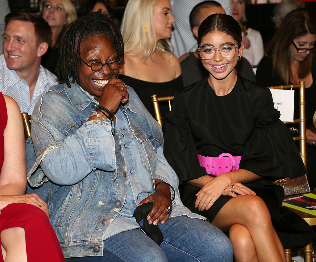 Whoopi Goldberg and Sarah Hyland in the front rowChristian Siriano for NYFW SS19, Front Row, USA - 08 Sep 2018