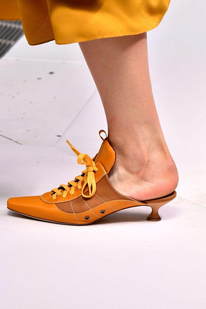 Model, shoe detailSies Marjan show, Runway, Spring Summer 2019, New York Fashion Week, USA - 09 Sep 2018