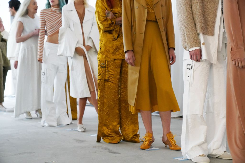 Models backstageSies Marjan show, Backstage, Spring Summer 2019, New York Fashion Week, USA - 09 Sep 2018