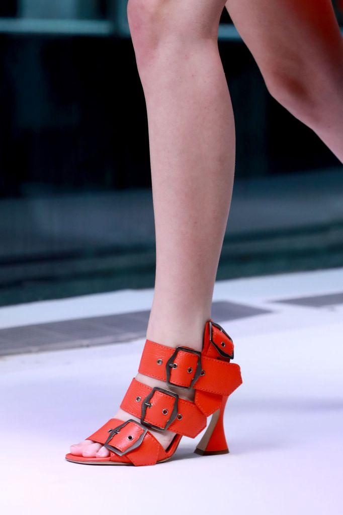 Model, shoe detailSies Marjan show, Detail, Spring Summer 2019, New York Fashion Week, USA - 09 Sep 2018