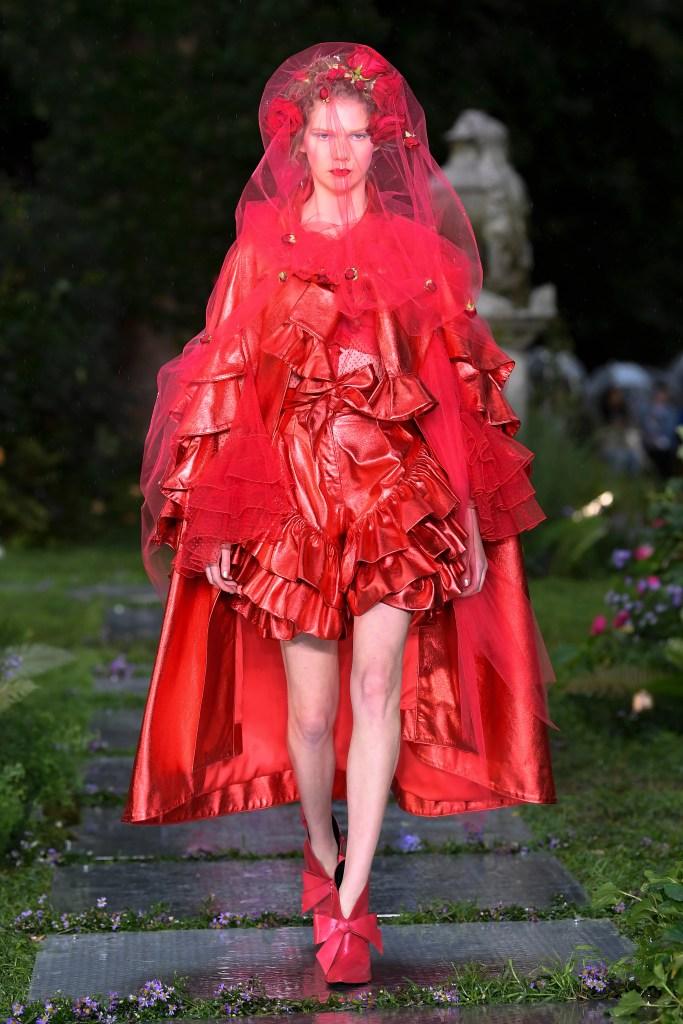 Model on the catwalkRodarte show, Runway, Spring Summer 2019, New York Fashion Week, USA - 09 Sep 2018