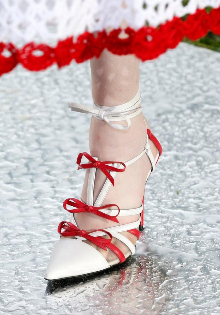 Model on the catwalk, shoe detailRodarte show, Detail, Spring Summer 2019, New York Fashion Week, USA - 09 Sep 2018
