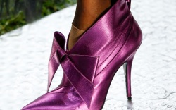 Rodarte bow-accented metallic booties