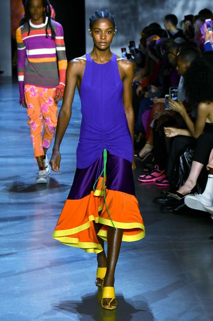 Model on the catwalkPrabal Gurung show, Runway, Spring Summer 2019, New York Fashion Week, USA - 09 Sep 2018