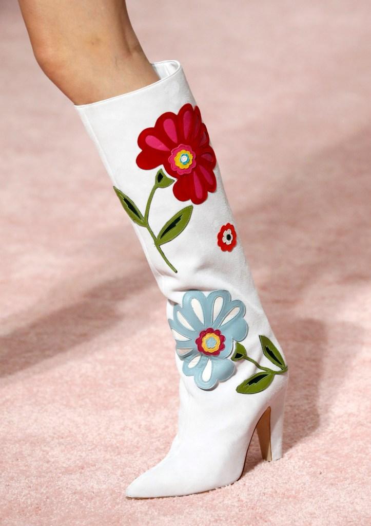 Model on the catwalk, shoe detailCarolina Herrera show, Detail, Spring Summer 2019, New York Fashion Week, USA - 10 Sep 2018
